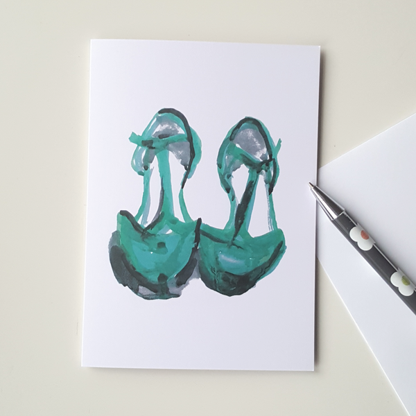Green Shoes Greeting Card