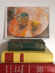 Orange Table Still-life - Original Painting