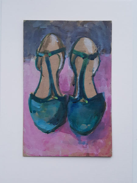 Green Shoes - Original Painting