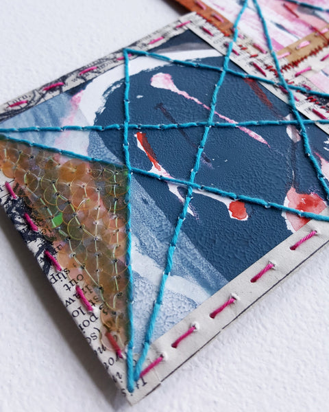 Detail of paper patchwork by Julia Laing