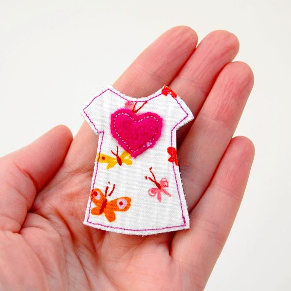 Brooch - Dress - Butterfly Fabric