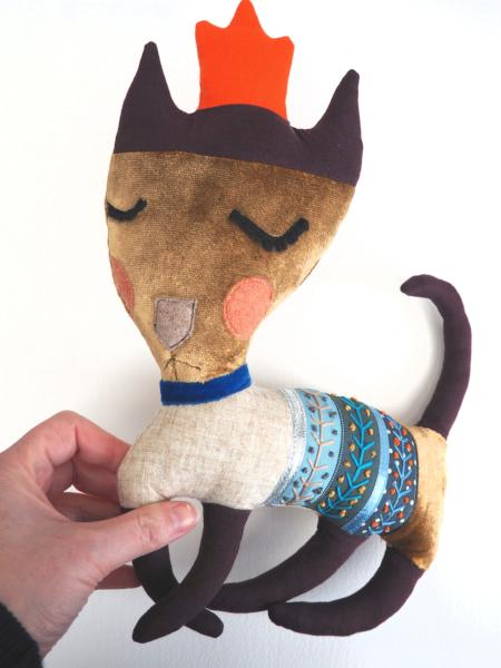 Handmade cat doll