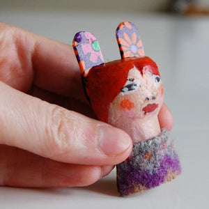 Brooch - Cork Face - Hand Painted