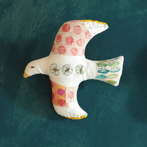 SALLY SEAGULL Hanging Bird Ornament - Medium Size