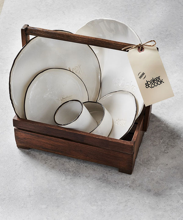 Baker & Cook Ceramics Gift Set of 4 (14 pieces)