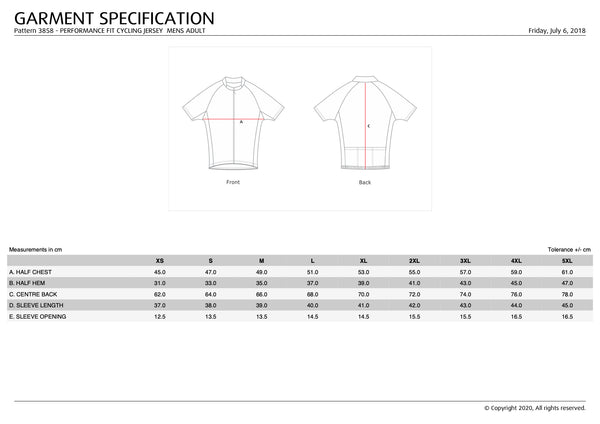 2020 RCDF Cycling Jersey - Men's