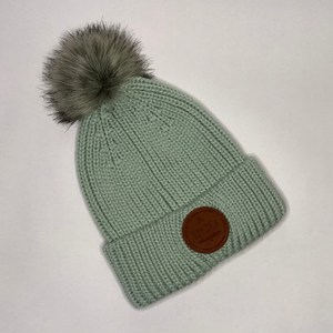 2021 Beanie - Pale green with pompom