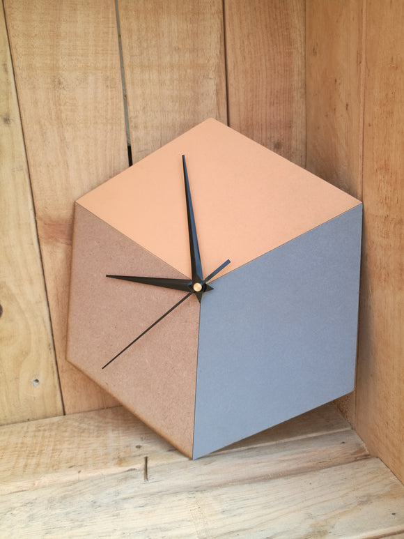 Hexagon clock
