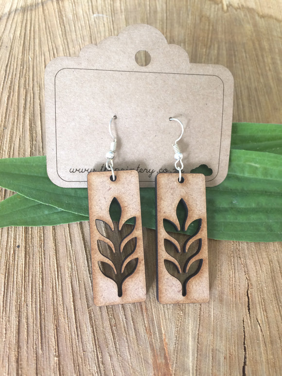 Leaf hanging ear rings
