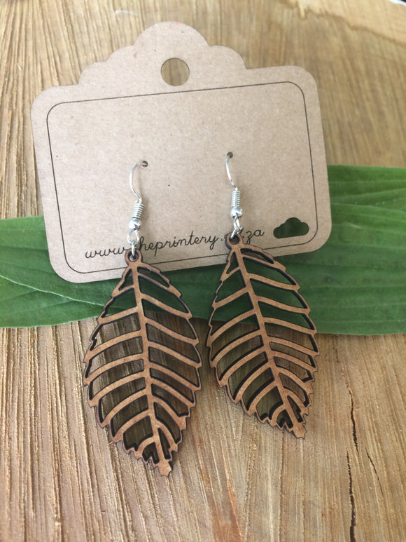 Fall leaf hanging earrings