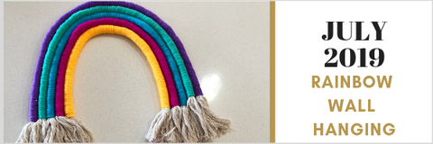 RAINBOW FIBRE WALL HANGING CRAFT SUBSCRIPTION BOX