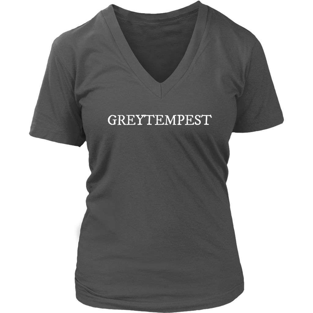 Womens V-Neck Tee - GreyTempest CustomShop