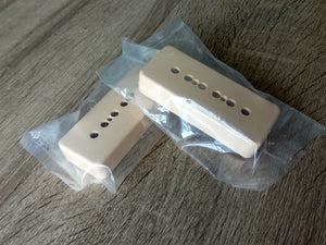 *CLEARANCE* 2pc P90 pickup covers. Cream. NEW. - GreyTempest CustomShop