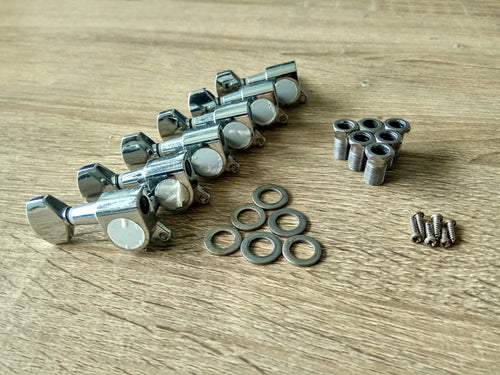 *CLEARANCE* 6L Die-cast Guitar Tuners. Used. (Chrome) - GreyTempest CustomShop