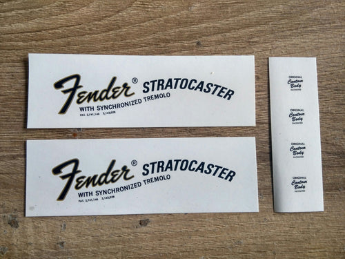 Fender 1968 to 1970 Stratocaster Decals - GreyTempest CustomShop