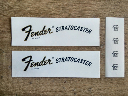 Fender 1970 to 1976 Stratocaster Decals - GreyTempest CustomShop
