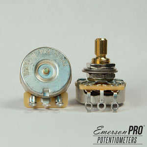"500K-OHM EMERSON PRO CTS (AUDIO TAPER – 0.375"" SHORT SPLIT SHAFT) - GreyTempest CustomShop"