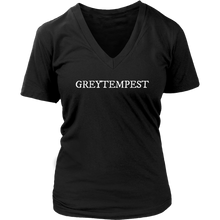 Load image into Gallery viewer, Womens V-Neck Tee - GreyTempest CustomShop