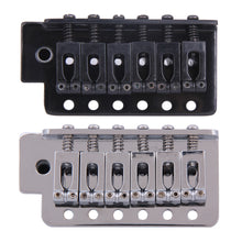 Load image into Gallery viewer, OEM Complete Strat Style Tremolo Bridge. (Black/Chrome) - GreyTempest CustomShop