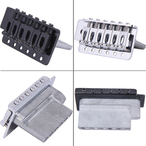 OEM Complete Strat Style Tremolo Bridge. (Black/Chrome) - GreyTempest CustomShop
