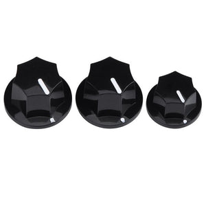 3pcs Volume/Tone Control Knobs for Bass (Black/Cream) - GreyTempest CustomShop