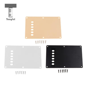 Tremolo Cavity Cover Backplate for Stratocaster. (Black/White/Cream) - GreyTempest CustomShop