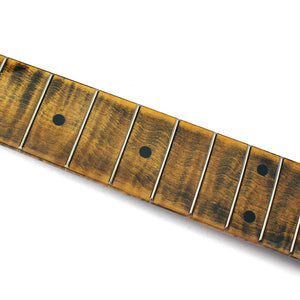 *GreyTempest Special* 21-fret Strat-style Neck. Maple Fingerboard. Custom Relic. - GreyTempest CustomShop