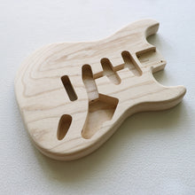 Load image into Gallery viewer, Modern Strat-style body. 2-piece Swamp Ash, SSS routing. - GreyTempest CustomShop