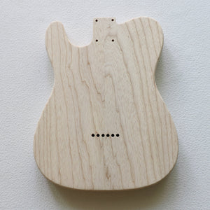 Tele-style body, 2 Piece Swamp Ash, Standard pickup routing - GreyTempest CustomShop