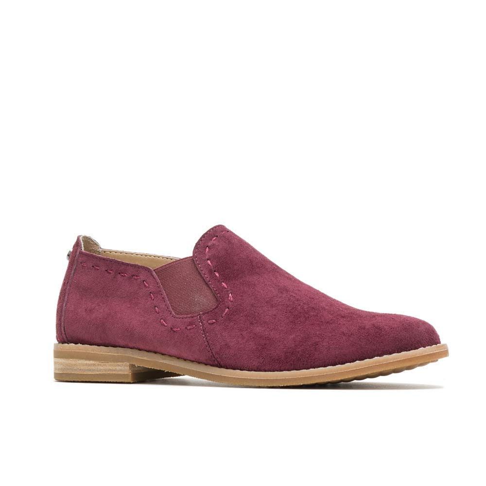 Hush Puppies Chardon Slip-On Women 6.5 Dark Wine Suede