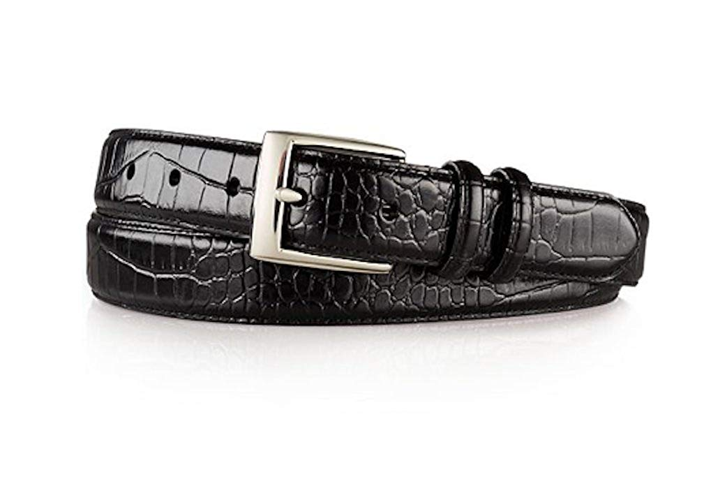 Polo Ralph Lauren Mens Crocodile Embossed Italian Leather Belt