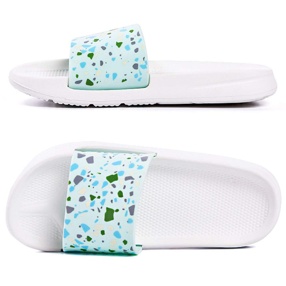 [Premium] Womens Outdoor&Indoor Slippers Floral Slip-on Sandals Athletic Slides