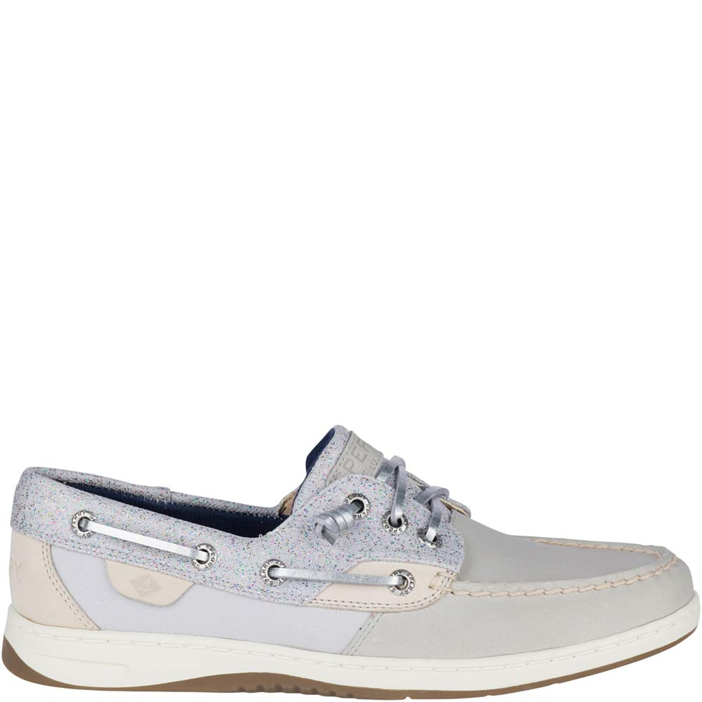 Sperry Top-Sider Rosefish Sparkle Boat Shoe Women 9 Grey