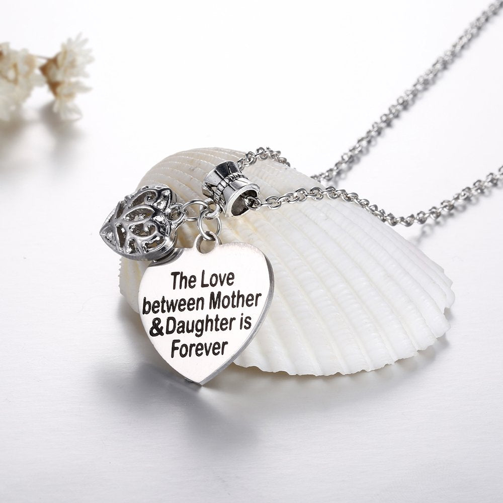Udobuy The Love Between Mother and Daughter is Forever Heart Charm Necklace Mom Daughter Jewelry Best from Daughter