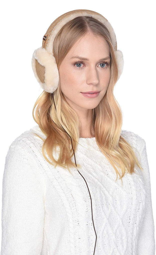 UGG Womens Classic Water Resistant Sheepskin Tech Earmuff with Tech Option