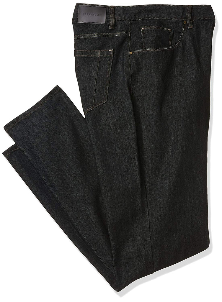 Perry Ellis Big and Tall Rinse with Black Tint Five Pocket Denim-Men's