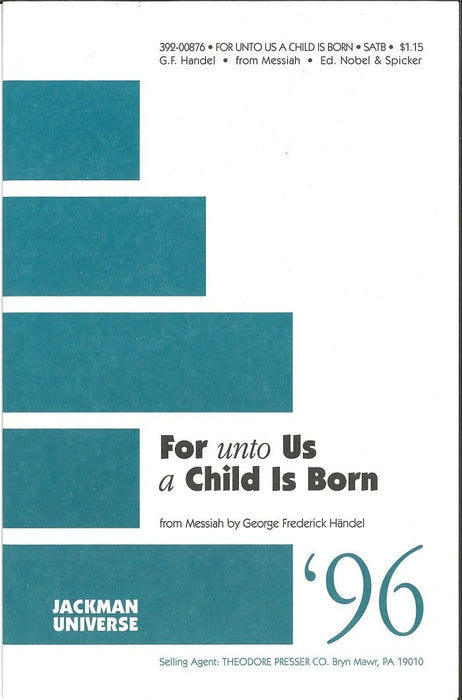 For unto Us a Child is Born - SATB | Sheet Music | Jackman Music