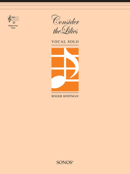 Consider the Lilies - Vocal Solo - Medium-low (DIGITAL DOWNLOAD) | Sheet Music | Jackman Music