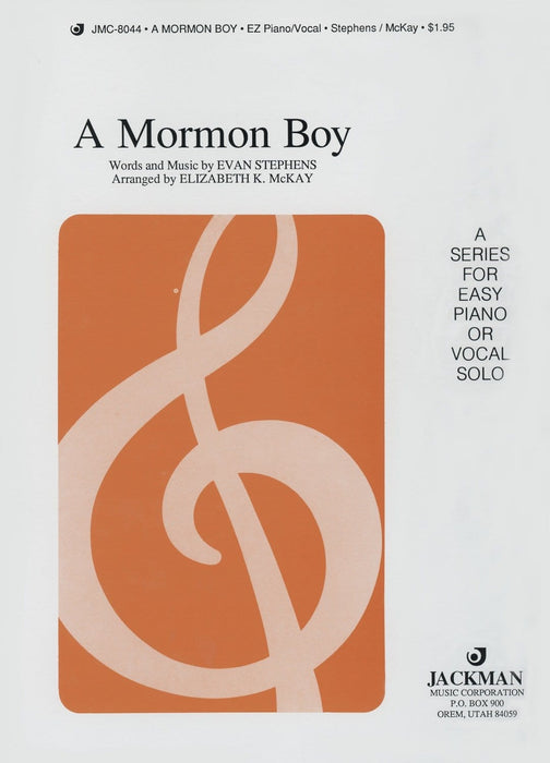 A Mormon Boy - Vocal Solo