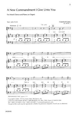 A New Commandment I Give Unto You - SATB