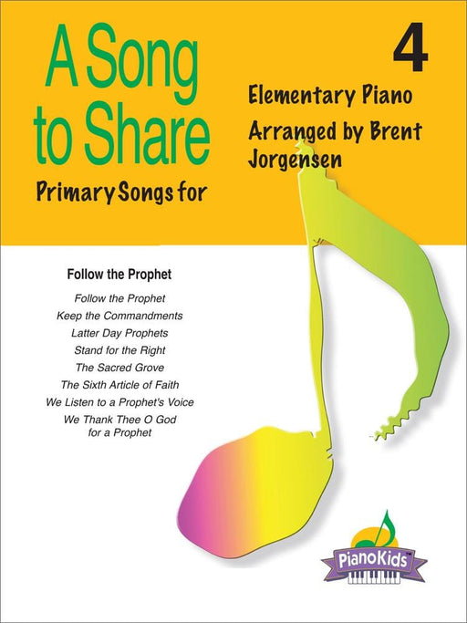 A Song to Share - Vol 4 - Elementary Piano | Sheet Music | Jackman Music