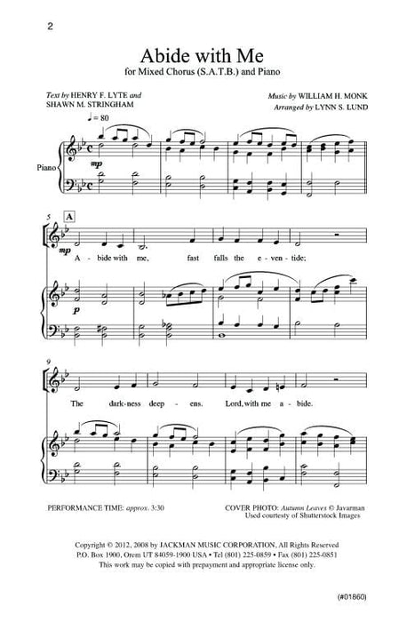 Abide with Me - SATB - Lund