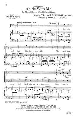 Abide with Me - SATB - Naylor