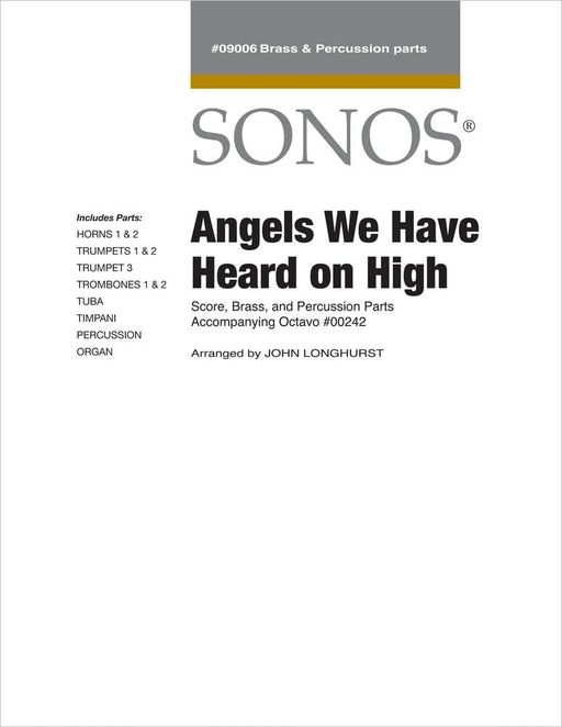 Angels We Have Heard On High - Conductor Score and Parts