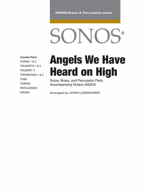 Angels We Have Heard on High - Conductor Score & Parts | Sheet Music | Jackman Music