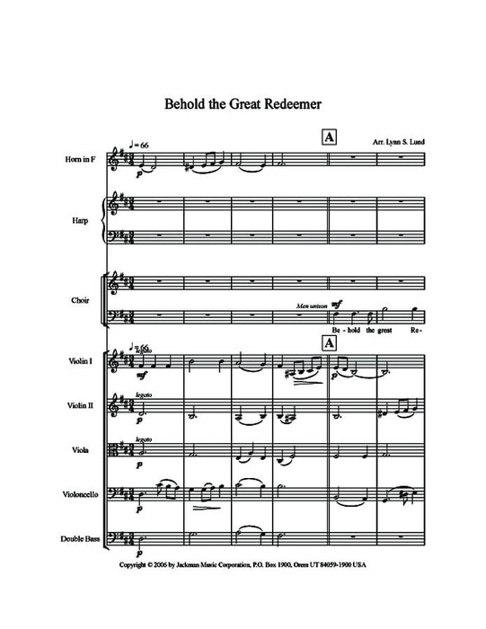 Behold the Great Redeemer - Orchestration