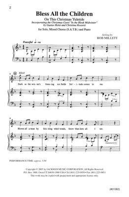 Bless All The Children Satb | Sheet Music | Jackman Music