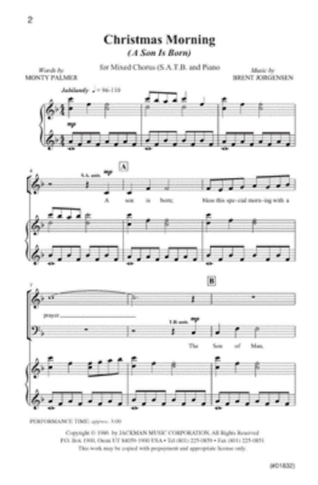 Christmas Morning (A Son is Born) - SATB