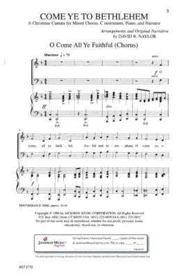 Come Ye To Bethlehem Cantata | Sheet Music | Jackman Music