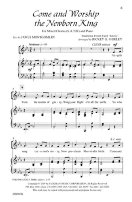Come and Worship the Newborn King - SATB
